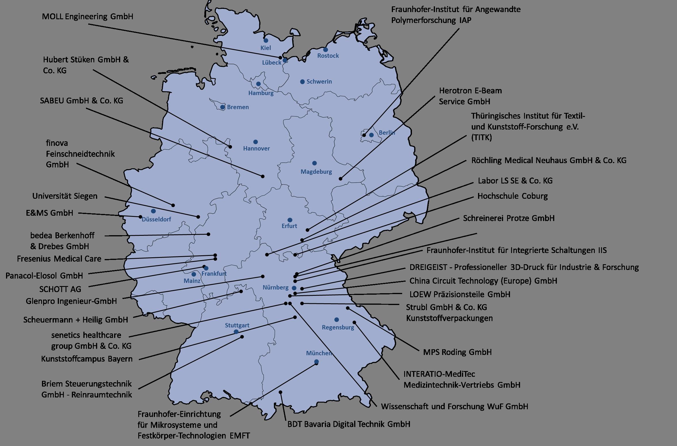 Landkarte Mitglieder